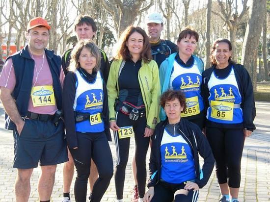 Depart du trail de Pignan  fev 2010